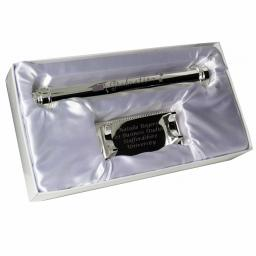 Engraved Silver Graduation Certificate Holder