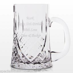 Personalised Crystal 1 Pint Glass Tankard