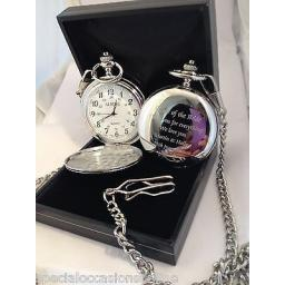 Personalised Chrome Pocket Fob Watch