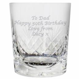 Personalised Engraved Crystal Whiskey Tumbler