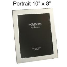 Personalised Silver Plated Photo frame 10 x 8""