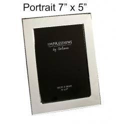 Personalised Portrait Silver Photo frame 7 x 5