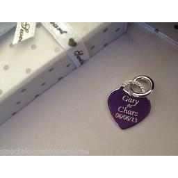 Personalised 925 Solid Silver Heart Charm Tag