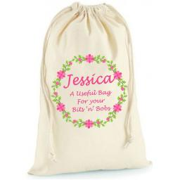 Personalised Birthday Cotton Drawstring Bag