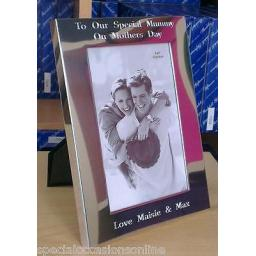 "Personalised S/Plated 6 x 4"" Photo Frame"