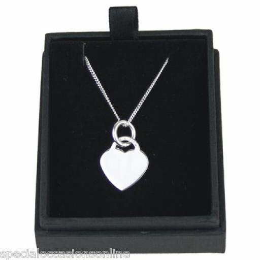 Personalised 925 Solid Silver Heart Pendant
