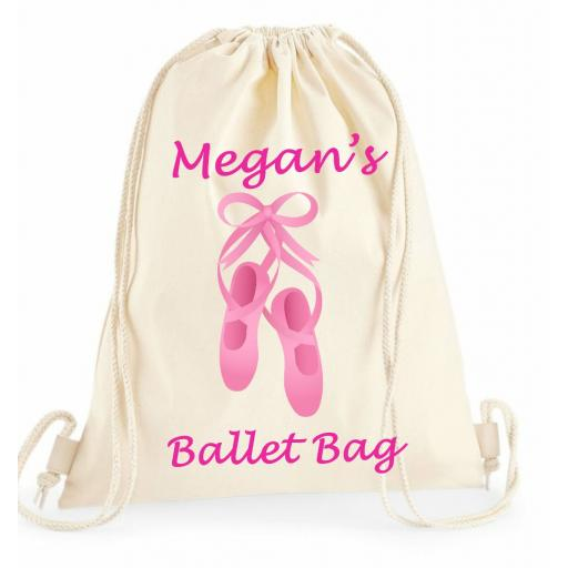 Personalised Girls Pink Ballet Bag