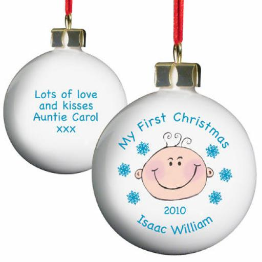 Personalised My 1st Christmas Bauble