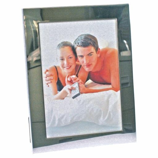 Personalised Silver Plated Photo frame 6x4""