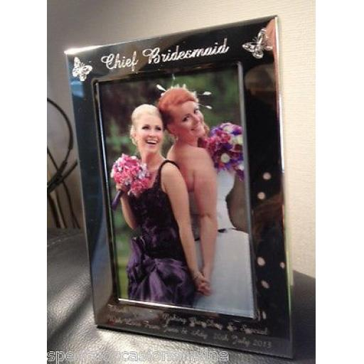 Personalised Butterflies Portrait 6 x 4 Photo Frame