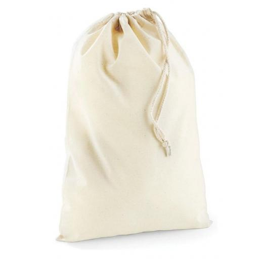 100% Cotton Canvas Natural Drawstring Bags
