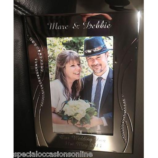 "Personalised Crystal 6"" x 4"" Photo Frame"