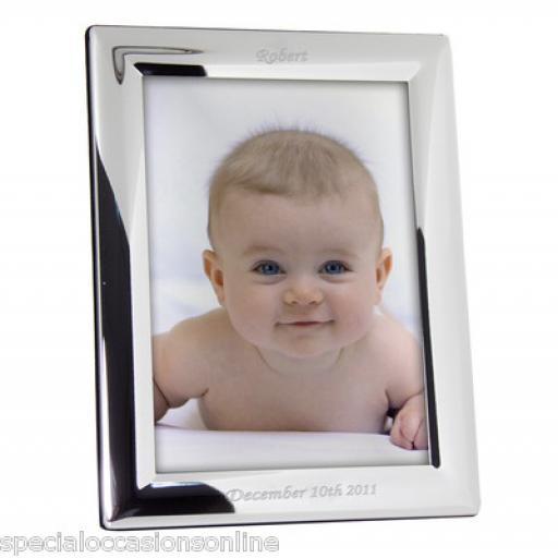 Personalised Silver Plated Photo frame 6 x 4