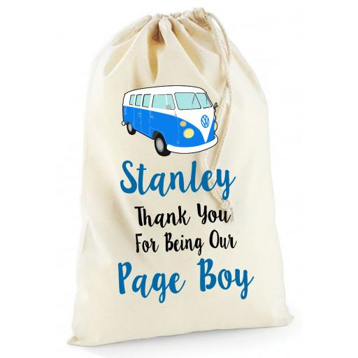 Personalised Campervan Wedding Gift Bag