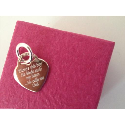 Personalised Sterling Silver Heart Charm