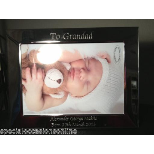 Personalised Landscape 7 x 5 Photo Frame