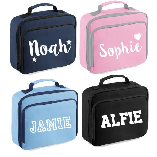 Personalised Childs Lunch Cooler Bag Kids Insulated Box