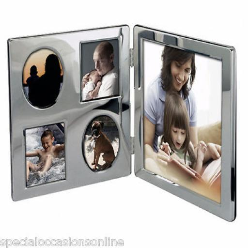 Personalised Silver Multi Family Portrait Photo frame