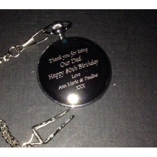 Personalised Pocket Fob Watch With Gift box