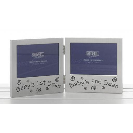 Double Baby Scan Photo Frame