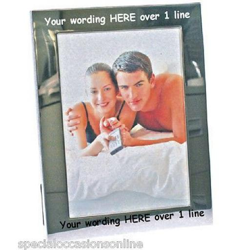 Personalised Silver Plated 6 x 4 Photo Frame