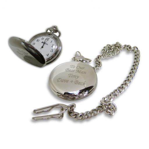 Personalised Pocket Watch Gift Boxed