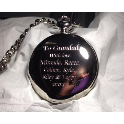 Personalised Pocket Fob Watch Gift Boxed