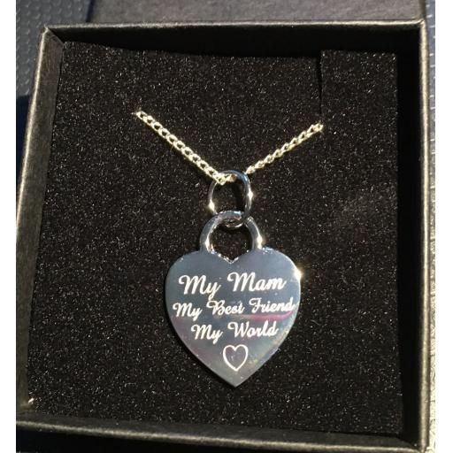 Personalised Silver Plated Heart Necklace