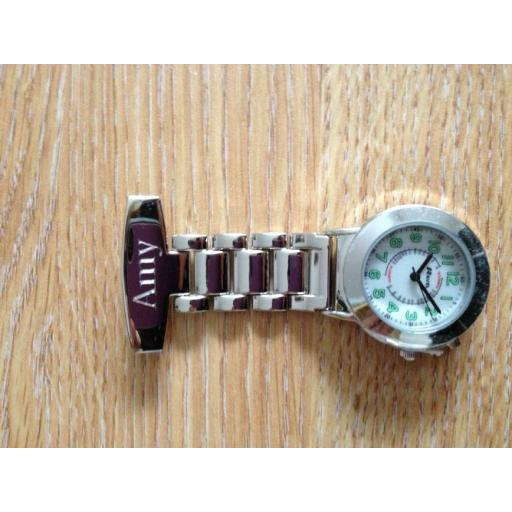 Personalised Nurses Fob Watch with Back light