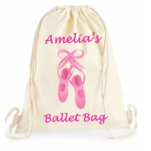 Personalised Girls Pink Ballet Bag