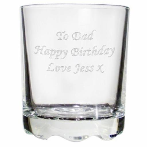 Personalised Stern Whiskey Glass