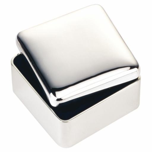 Personalised Square Silver Plated Trinket Box