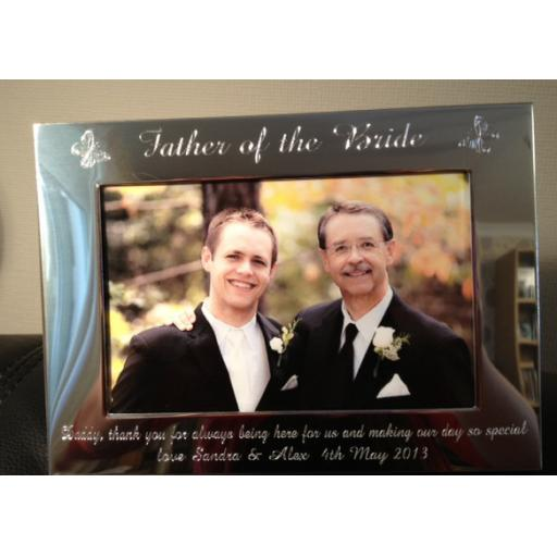 Personalised Landscape Silver Photo Frame