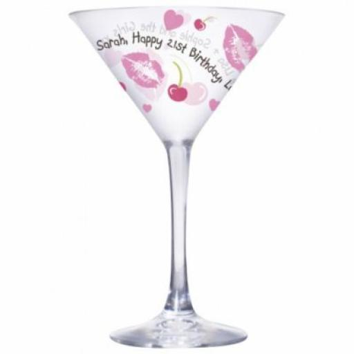 Personalised Lips Cocktail Glass