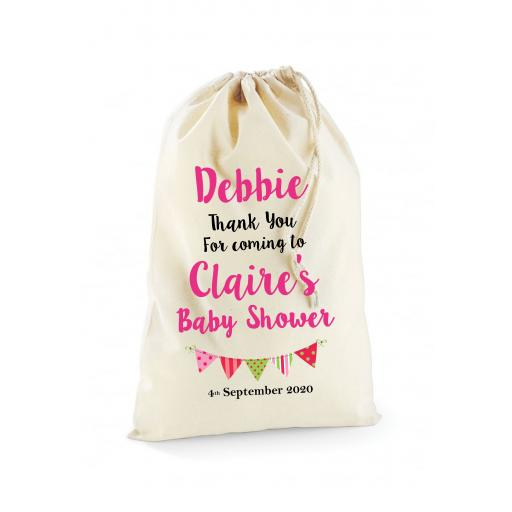 Personalised Baby Shower Guest Cotton Bag